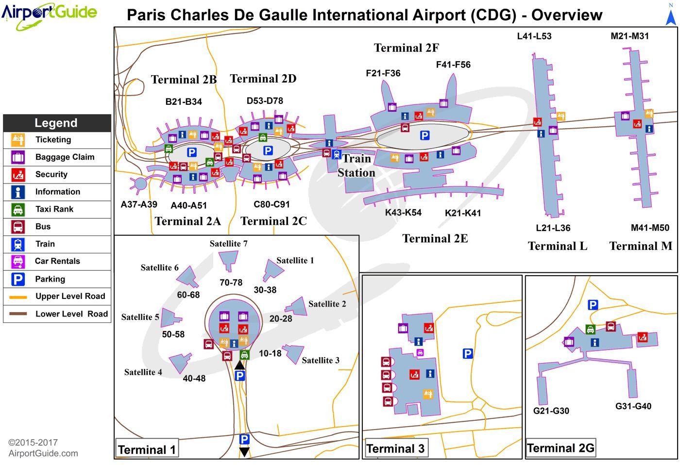 Cdg map - Paris cdg map (Île-de-France - Frankreich)