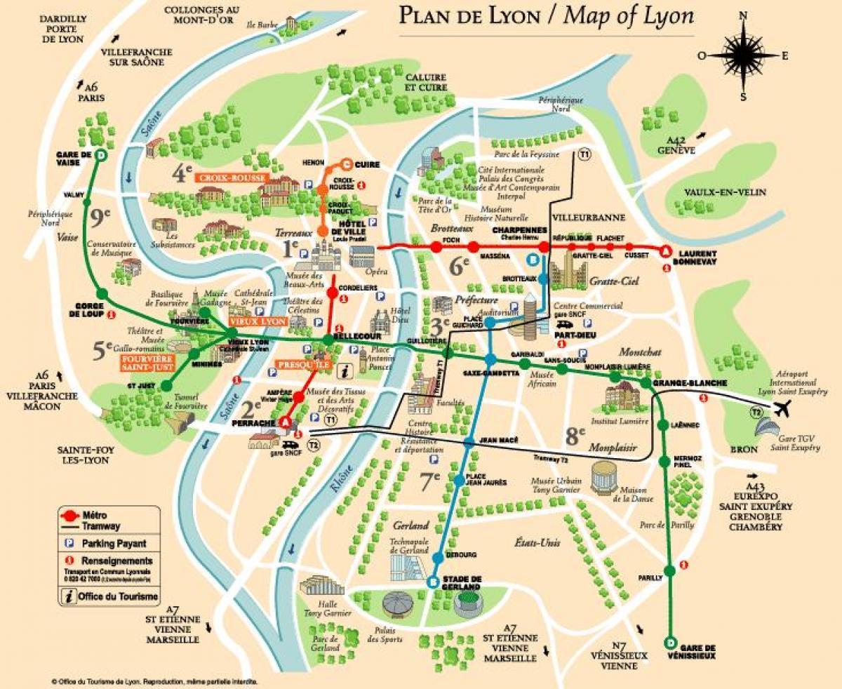 Lyon Karte.Lyon Paris Map Karte Von Lyon Paris Ile De France