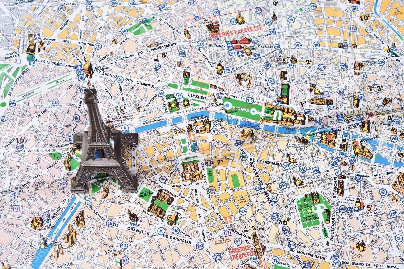 Karte Paris Eiffelturm.Paris Landkarte Mit Eiffelturm Landkarte Paris Mit