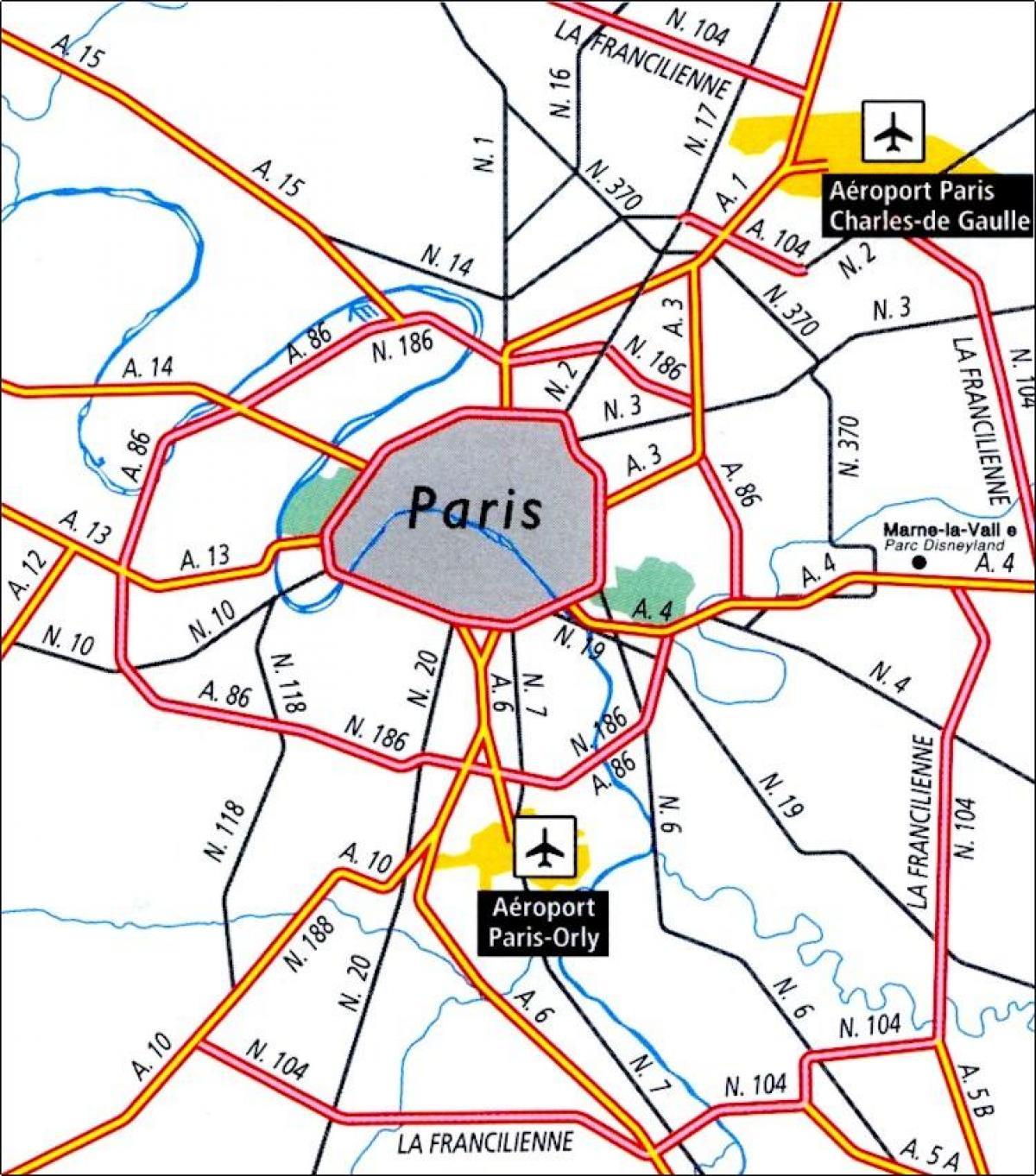 Flughafen In Paris Frankreich Karte Paris Flughafen Standorte