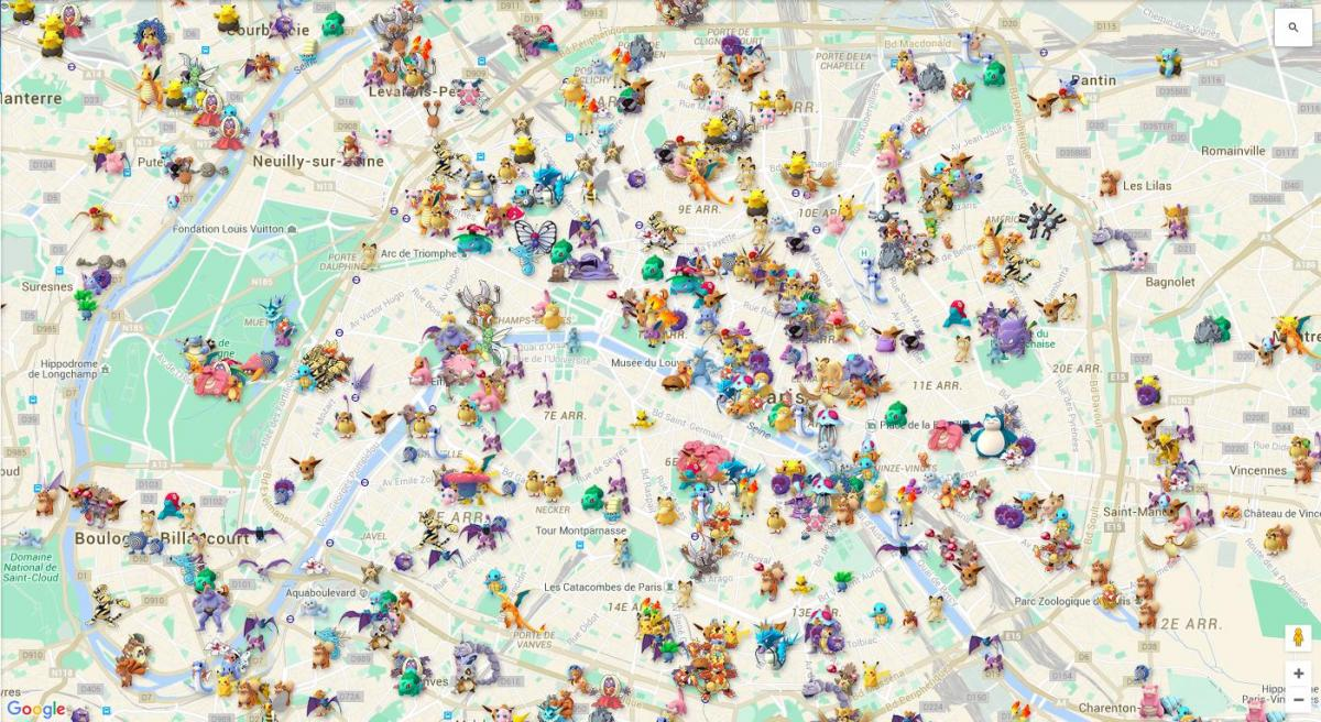 pokemap Paris