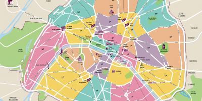 Karte Paris Arrondissement.Paris Map Karten Paris Ile De France Frankreich