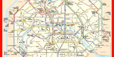 Karte Paris.Paris Map Karten Paris île De France Frankreich