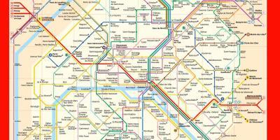 Paris Metro Zonen Karte.Paris Metro Route Karte Paris Metro Karte Mit Strassen In